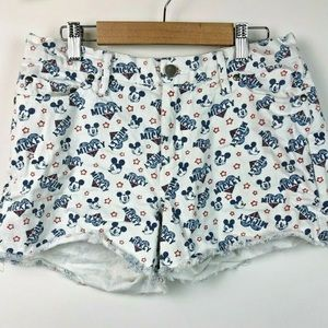 Disney Boutique Mickey Mouse Jean Shorts Cut Offs